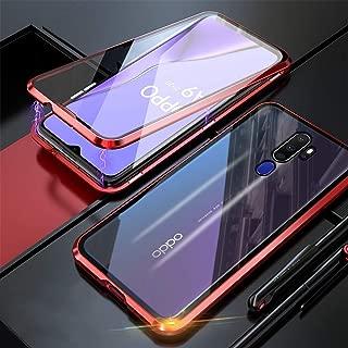Alsoar Compatible pour Samsung Galaxy A9 2018 Coque Rigide en Verre Tremp/é Arri/ère Housse Ultra Mince 2 en 1 Adsorption Magn/étique M/étal Cadre Bumper 360/° Protection Etui Case Bleu