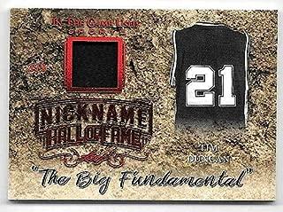 2019 Leaf ITG Used Nickname Hall Of Fame Red #16 Tim Duncan Jersey Card #1/3