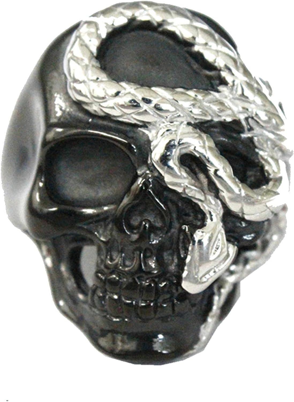 Skull Ring 316L Stainless 5 ☆ very popular Steel Jewelry Men Sku Snake Stars Regular dealer Cool