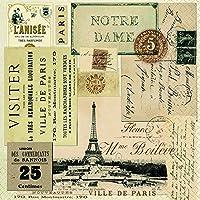 Paper+Design ペーパーナプキン Ville de paris 約30×30cm 3枚重ね 20枚入 LN0828