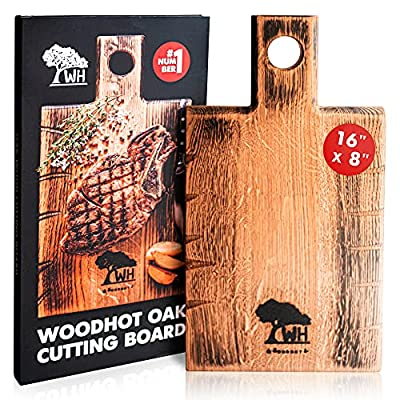 Amazon - 30% Off on  Natural Oak Wood Cutting Board for Kitchen – 16 x 8 Inch Extra Large