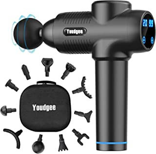 Massage Gun, Handheld Electric Body Muscle Massager Deep Tissue, , High Intensity Vibration Percussion Massage Device with...