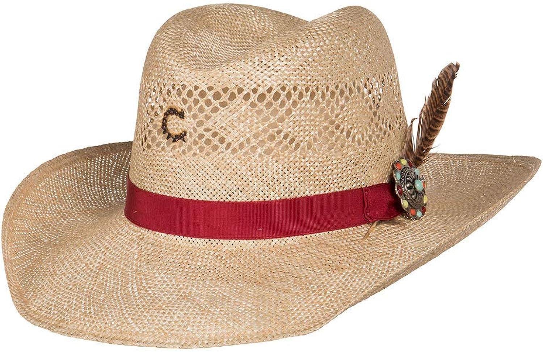 Charlie 1 Horse Hats Womens Stud Finder 3 1 2 Brim Sisal Straw