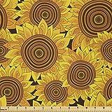 Lunarable Sonnenblumen-Stoff von The Yard, Blumen Garten