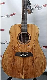 Oscar Schmidt OD312SM Spalted Maple Top 12-String Dreadnought Acoustic Guitar