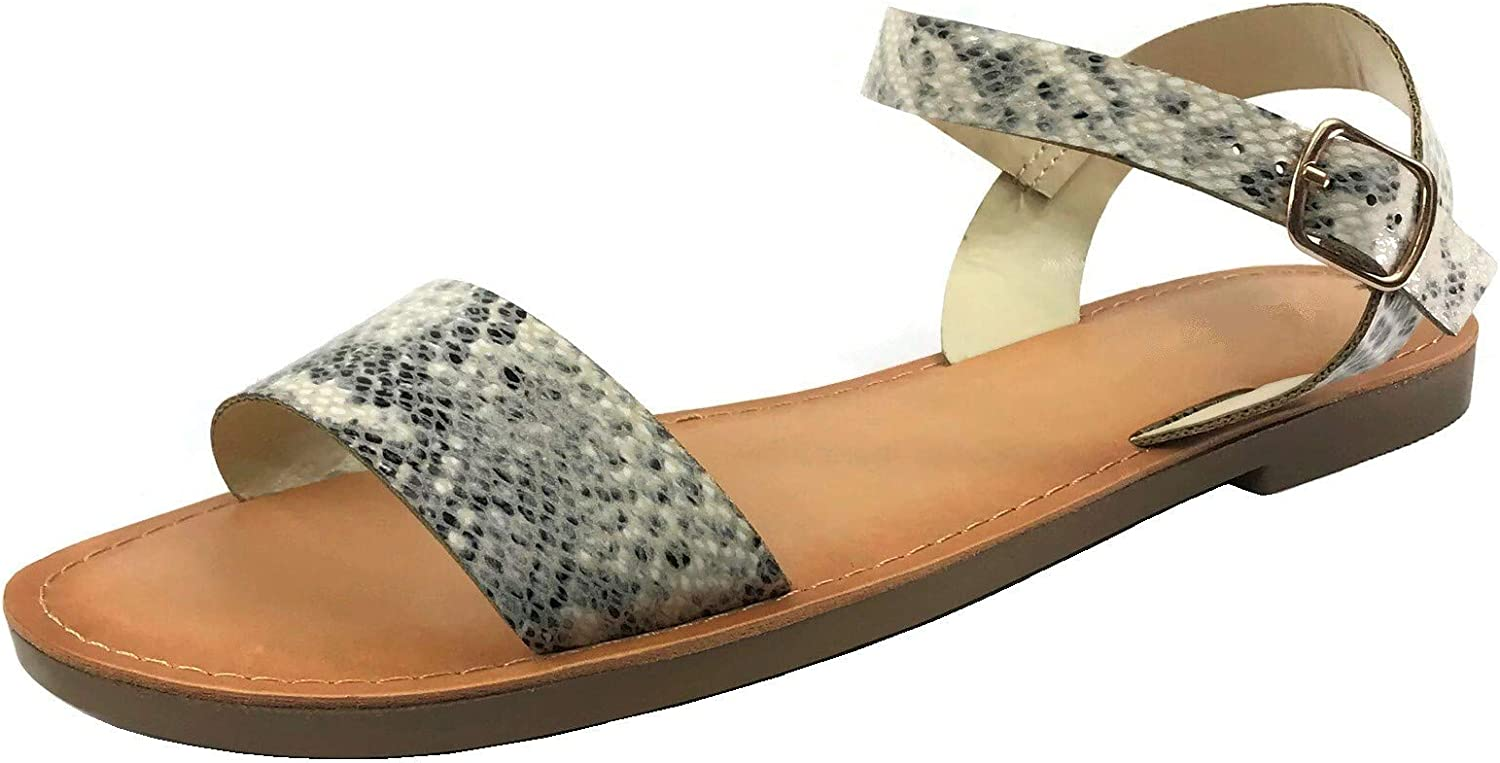 Wells Collection Womens ANIBEL Over The Toe Single Strap Sandal