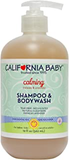 California Baby Calming Shampoo and Body Wash - Hair, Face, and Body | Gentle, No Fragrance, Allergy Tested | Dry, Sensitive Skin, 19 Ounces