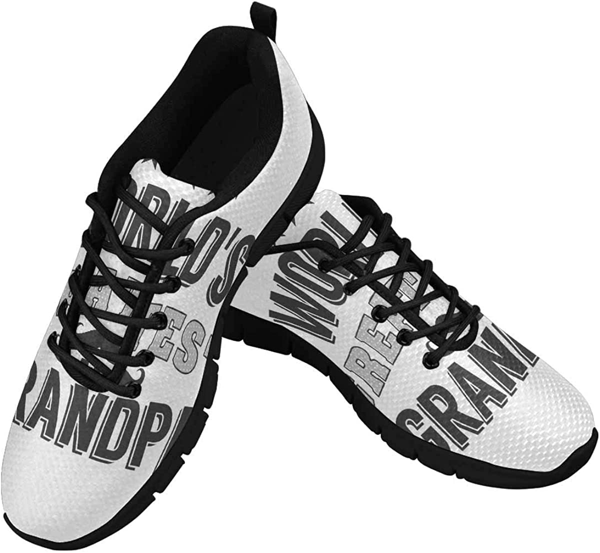 Max 50% OFF InterestPrint World's Greatest Grandpa At the price of surprise Lig Shoes Walking Women's