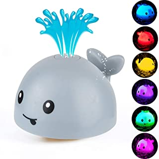 Niome Baby Bath Whale Automatic Spray Water Toy Light Up Bath Tub Toys for Toddlers Infants Kids