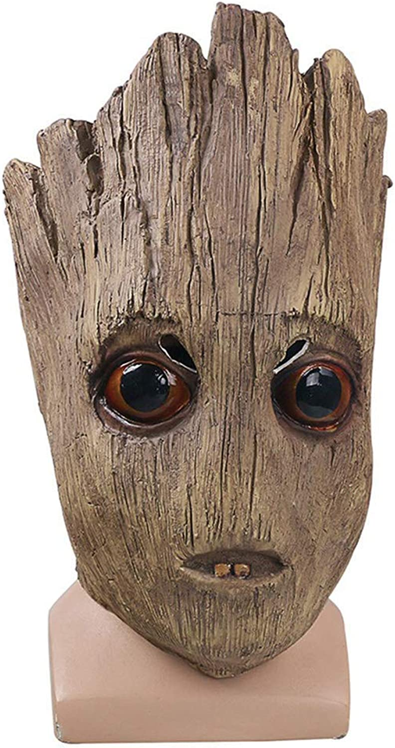 BESTHOO Mask Little Tree Man Maske Hartes Latex Halloween Haube Cosplay Requisiten Modenschau Kostüm Party (color   , Size   )