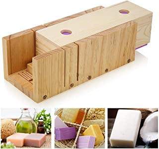 Joyeee Multi-Function Adjustable Wooden Soap Mold Handmade Loaf Cutter Mold, Art Craft Soap Making Mold with Large Wood Box for CP and MP DIY Homemade Soaps Making Supplies
