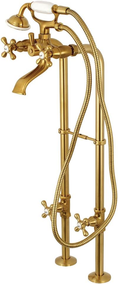 Long-awaited Kingston Brass CCK266K7 Freestanding Faucet Package Tub NEW before selling Brushed