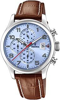Festina F20375/5 Leather Analog Casual Watch for Men