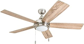 "Honeywell 50606-01 Ventnor Farmhouse Ceiling Fan, 52""..."