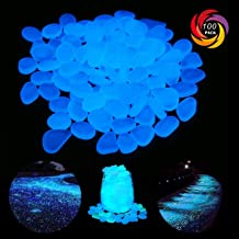 Garden Pebbles, Glow Stones Rocks, Luminous Pebbles for Walkways Outdoor Decor Aquarium Fish Tank Garden Decorative Stones for Path Lawn Yard Walkway(100pcs)