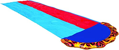 2021 BANZAI 16 Foot Speed Blast Dual Racing Water Slide with Spray Splash Pool and discount Water lowest Spraying Side Rails outlet online sale