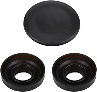 MMI Joystick Knob Repair Kit, Center Button Cover Repair Replacement with 2 Seal Ring for Audi A4 A5 A6 Q5 Q7 S5 S6 ((matte black))