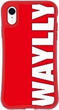 iPhone XR ケース どこでもくっつくケース WAYLLY(ウェイリー) アイフォンXRケース 着せ替え 耐衝撃 米軍MIL規格 [レッド ロゴ] セット MK