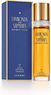 Diamonds and Sapphires by Elizabeth Taylor for Women, Eau De Toilette Spray, 3.3-Ounce