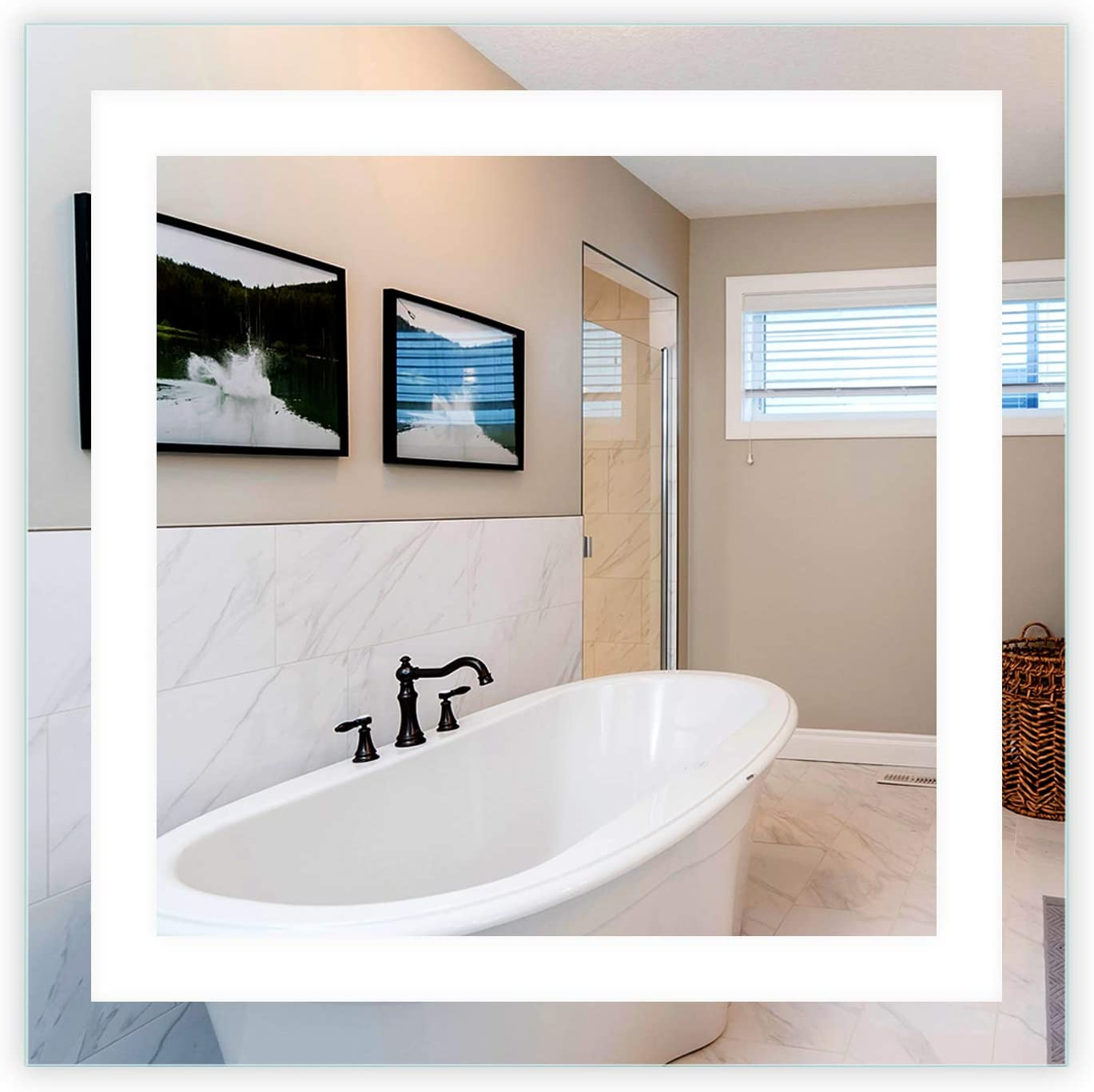 Mirrors Very popular Marble Max 69% OFF LED Front-Lighted Bathroom Vanity 32