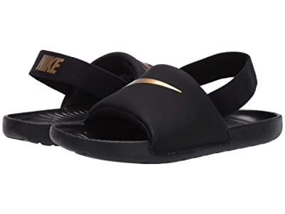 Nike Kids Kawa Slide (Infant/Toddler) (Black/Metallic Gold) Boys Shoes
