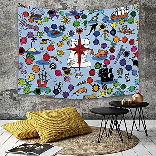 Yaoni Tapestry Pared paño Mantel Toalla de Playa,Juego de Mesa, Juego temático...
