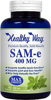 Healthy Way Pure SAM-e 400mg Supplement (Non-GMO) - 90 Capsules Sam-e (S-Adenosyl Methionine) to Support Mood, Joint Healt...