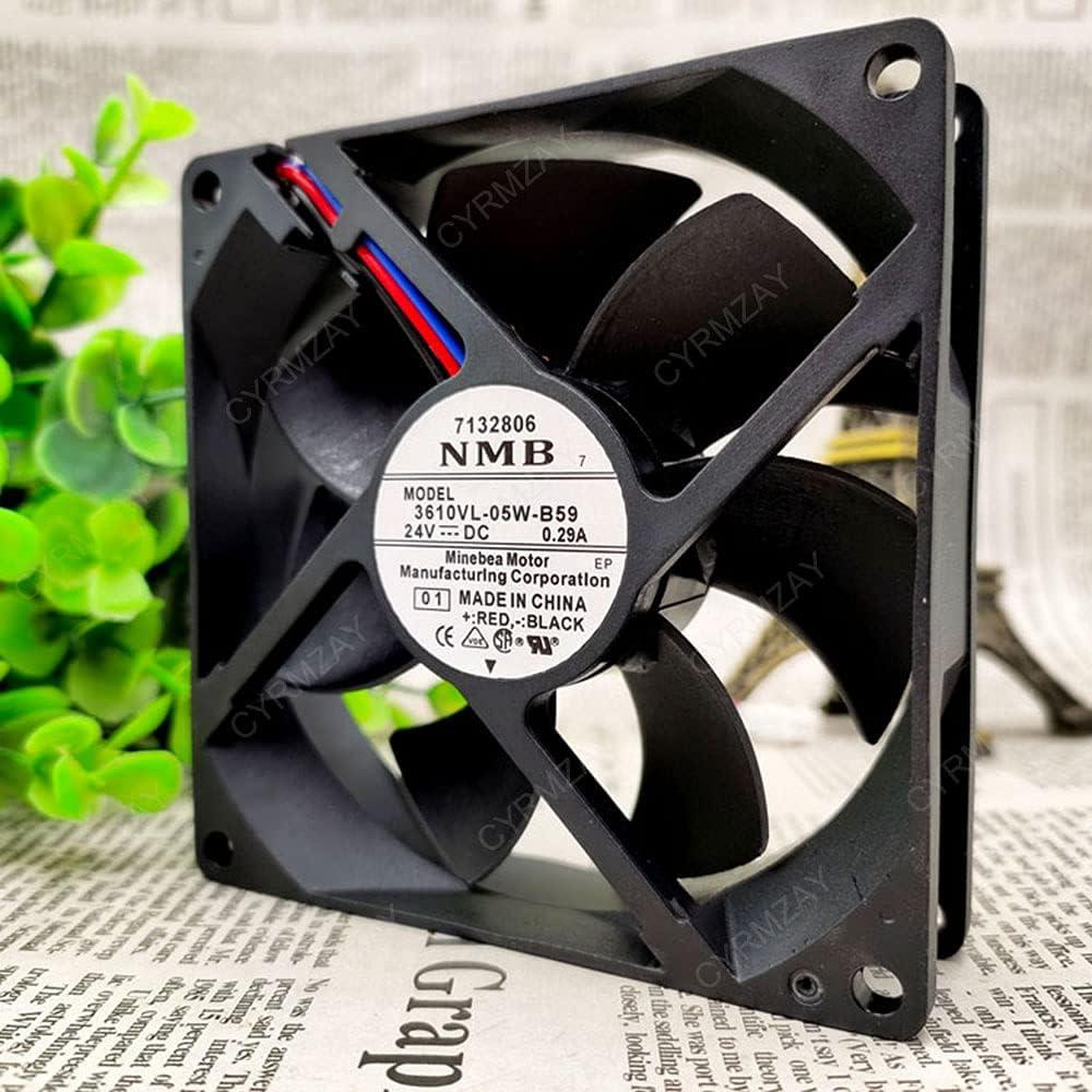 CYRMZAY Ventilador Compatible para NMB 3610VL-05W-B59 24V 0.29A 3-Wire 9CM 9025 Cooling Ventilador