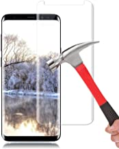 Galaxy S9 Plus Screen Protector, AUSURE [9H Hardness][Anti-Scratch] [Anti-Fingerprint][3D Curved] [High Definition] Ultra Clear Tempered Glass Screen Protector for Samsung Galaxy S9 Plus (2 Pack)