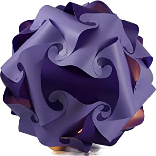 Lámpara de techo con forma de puzzle, 45 cm, pantalla de pie, decorativa, color lila