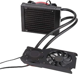 Pokerty Ventilador de refrigeración de PC, 120VGA Tarjeta gráfica Refrigerador de Agua CPU Radiador 12CM Ventilador de refrigeración