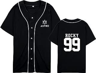 Kpop Astro Baseball Jersey Short Sleeve Sport T-Shirt S-anha R-ocky Moonbin Shirt