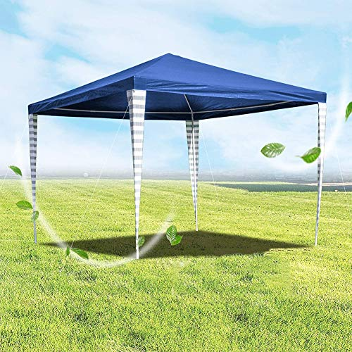 DNNAL 3X3m Pavilion, Waterproof Stable Party Tent Material Tarpaulin Sun Protection Garden Pavilion for BBQ Gazebo Grill Canopy Patio