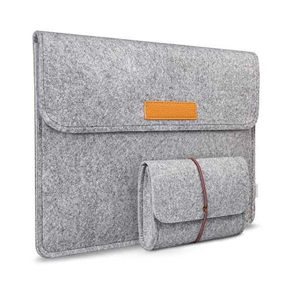 """Inateck 12.3-13 Inch Laptop Sleeve Case Compatible with 2020 MacBook Air, MacBook Pro 13'' 2020/2019/2018/2017/2016… 1 【Fit perfectly only for Apple 12 inch MacBook(Release 2017/2016/2015), and NOT FIT other models】Not designed for 11.6 inch MacBook Air and other laptops. Internal dimensions: 11.2"""" x 7.8"""" - 28.5 x 20 cm; External dimensions: 12.2& x 8.7& - 31 x 22.2 cm High-quality felt outside and soft flannel inside. Practical design and exquisite workmanship; Durable and sustainable."""
