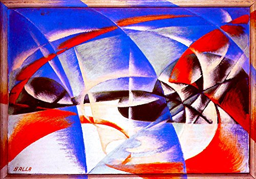 """Landscape - By Giacomo Balla - Giclee Canvas Prints 20"""" by 14"""" Unframed"""