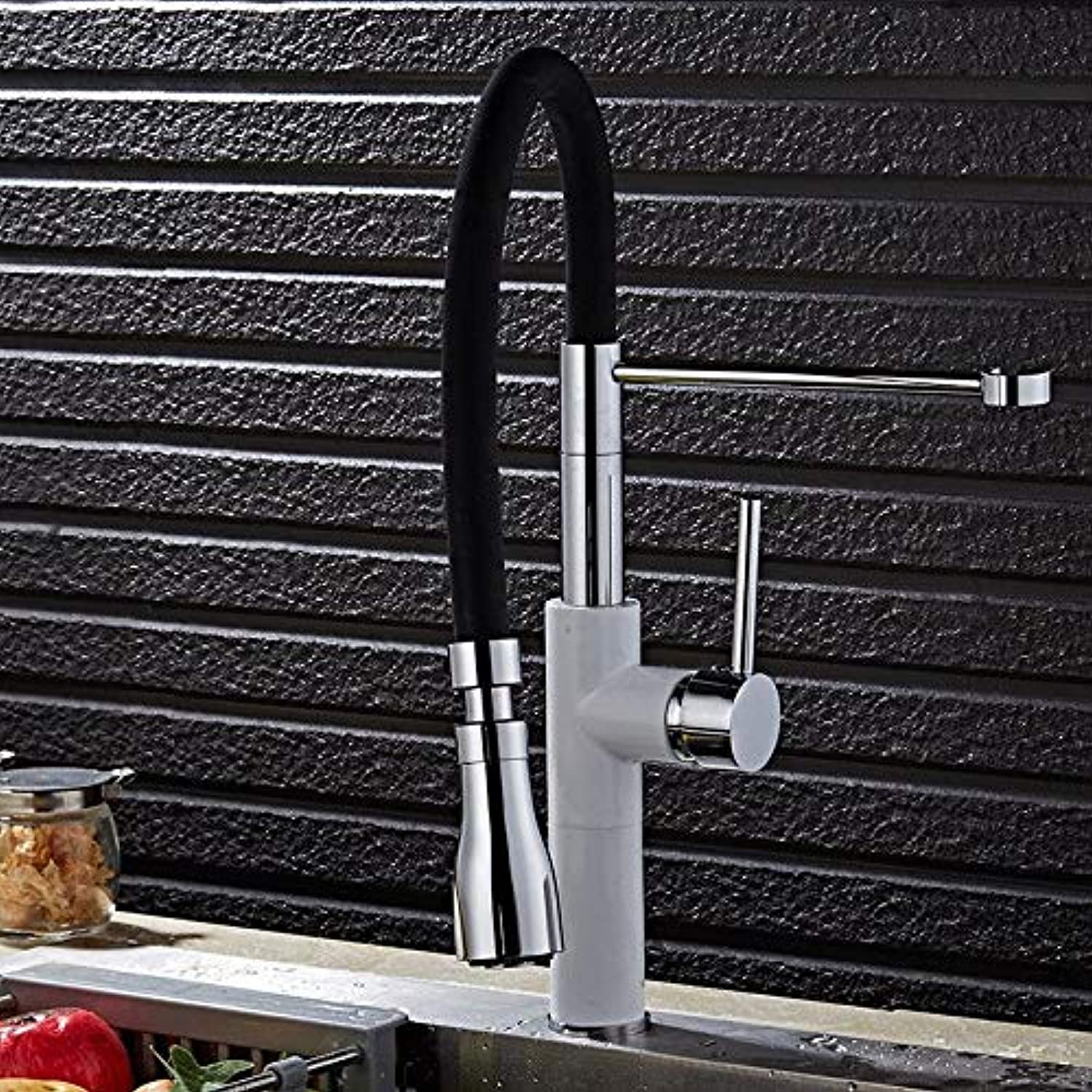 Taps Faucet White Kitchen Hot and Cold Water Faucet Sink Sink Universal Faucet