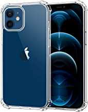 MoKo Compatible with New iPhone 12 Case/iPhone 12 Pro Case 6.1 inch 2020, Reinforced Corner Shockproof TPU Bumper & Anti-Scratch Anti-Yellow Hard Panel Cover - Crystal Clear