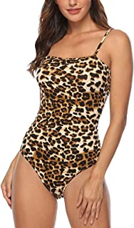 Corriee Sexy Jumpsuits for Women Leopard Printed Camisoloe Leotard Top Womens Sexy Tank Bodysuit Rompers