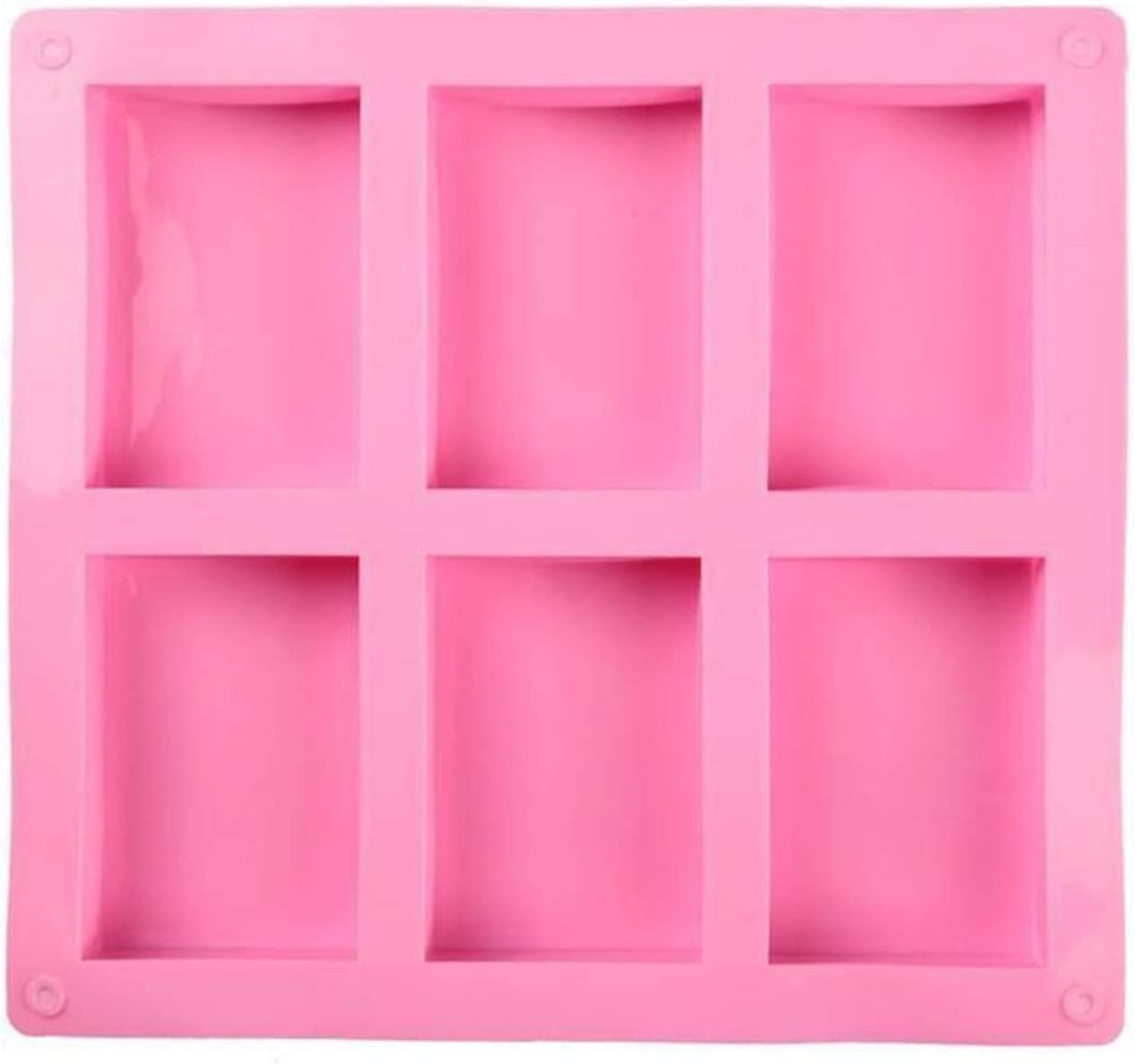 CGRTART Soap Base Max 51% OFF Silicone Pudding Candy Mold Si Max 52% OFF Cavity Square 6