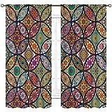 Cinbloo Mandala Bohemian Curtain...