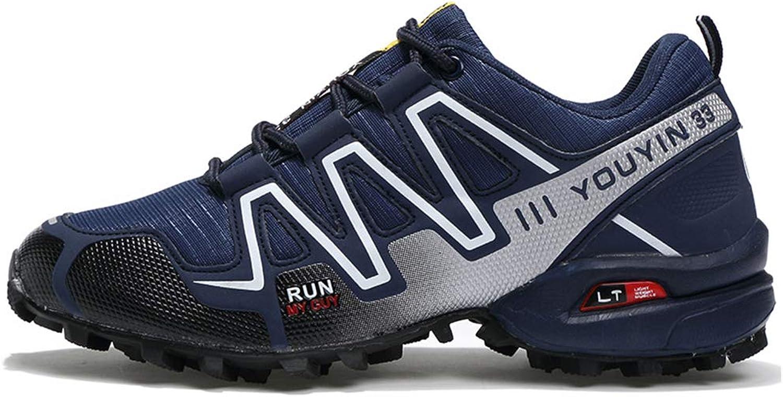Yujingc Men's Outdoor Sneakers for Mountaineering Hiking Climbing Trekking Running shoes Lace ups Off-road Sport Mesh Footwear