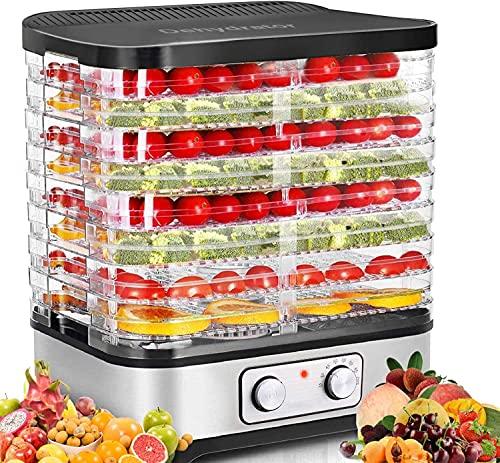 COOCHEER Essiccatori per Alimenti, Temperatura Regolabile da 35-70℃, Essiccatore frutta e verdura, 8 Pallet, 400W