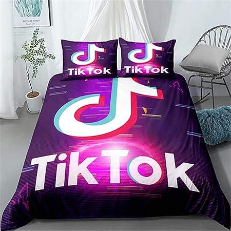 convient pour toutes les saisons N03-140 x 210 cm XWXBB Douyin Tik TOK Parure de lit pour enfant Housse de couette en fibres de polyester haute densit/é housse de couette de taille standard