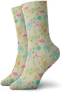 Calcetines casuales Calcetines de verano Flamingo Tobillo Vestido corto Calcetines de compresión para mujeres Hombres