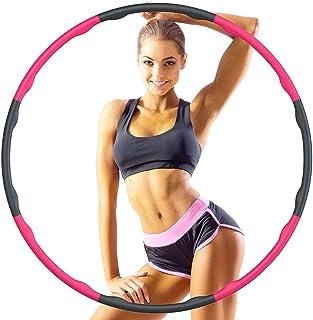 Hoola Hoop Reifen Erwachsene 1.2kg, 6-8 Segmente Abnehmbarer Hoola Hoop Reifen Geeignet Für Fitness/Sport/Zuhause/BüRo/Bau...