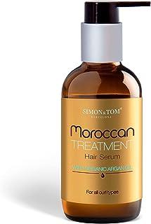 SIMON & TOM - Moroccan Treatment - Siero per Capelli - Con Olio di Argan Biologico - Nutre e Idrata - Capelli Morbidi e Lu...