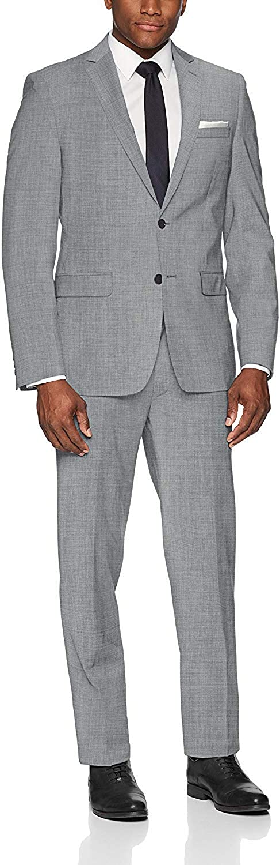 Frank Men's Suit Slim Fit Custom Made Gray Notch Lapel Flap Pocket Suits Fashion Business Wedding Tuxedos