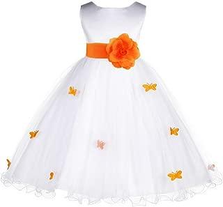 Butterflies Tulle Formal Flower Girl Dresses Toddler Girl Dresses 509S