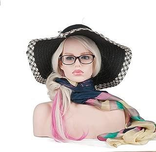 L7 Mannequin Realistic American Polypropylene Mannequin Head Form with Shoulder Bust