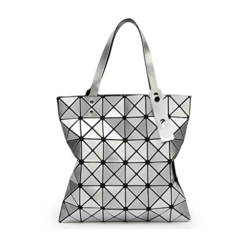 6a2fe7fe36ae Katoony Womens PU Leather Geometric Diamond Lattice Shoulder Handbag Tote  Bag Top Handle Bag Satchel